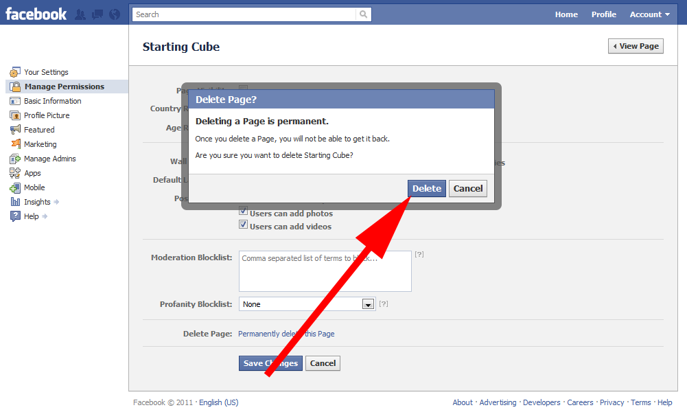 How To Close Your Facebook Page