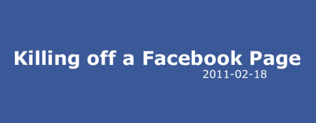 how to kill a facebook page