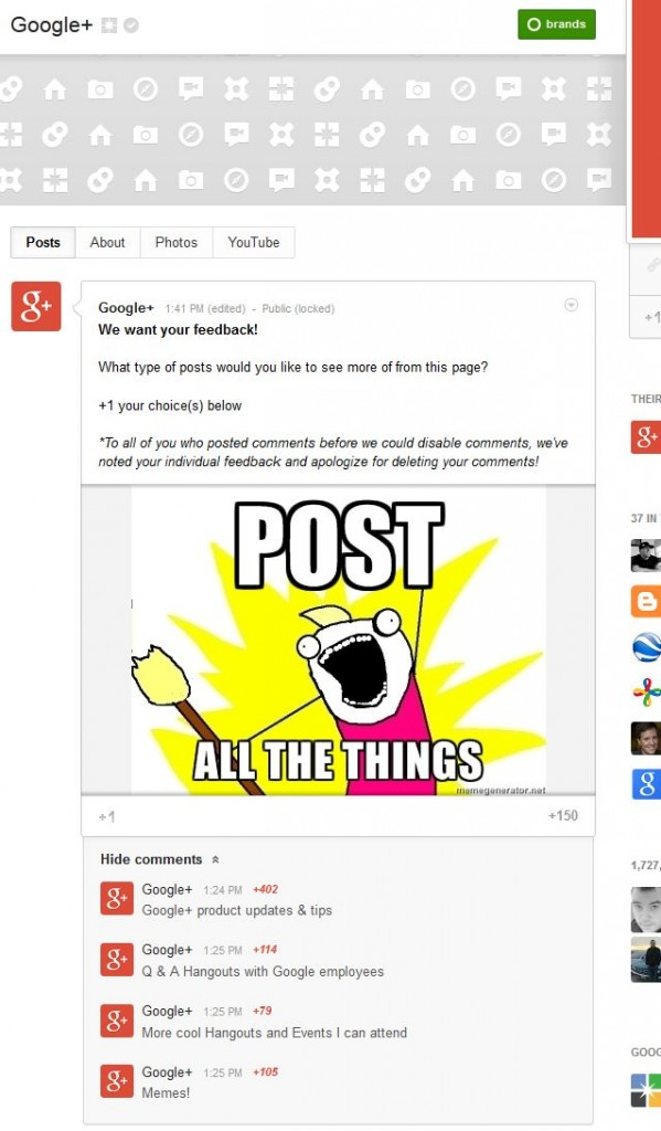 The Post Google+ Did